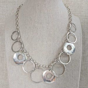 Silpada Sterling Silver Hammered Ring Necklace